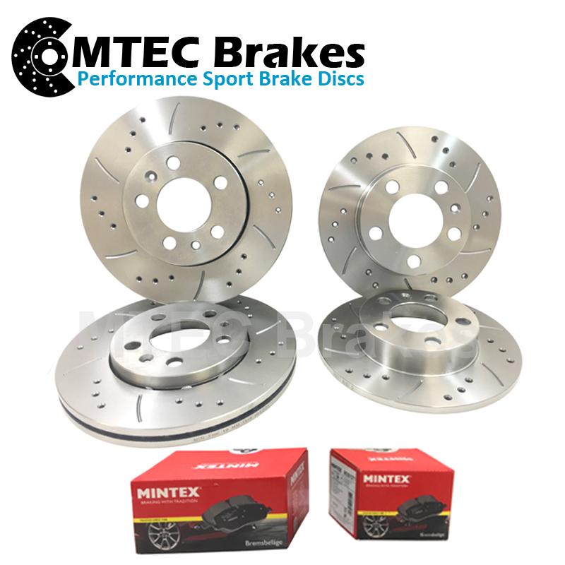 Mazda 6 Est 2.2d 03/08-12/08 Front Rear Brake Discs and Brake Pads