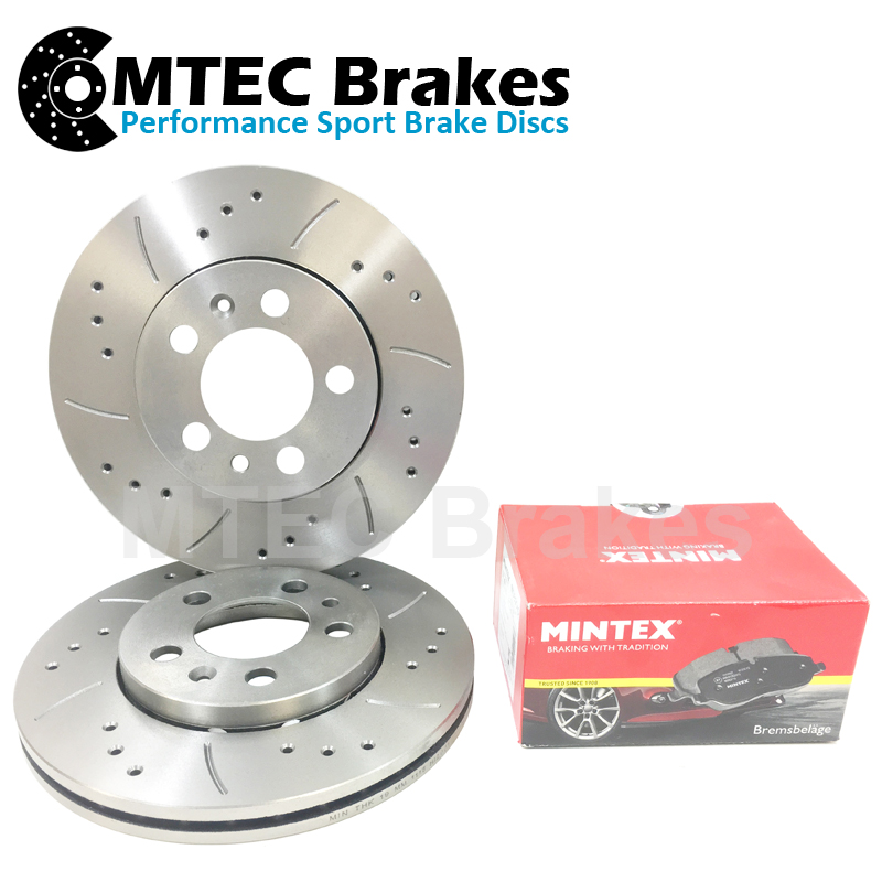 Saab 9-5 Aero Hot 05-09 Drilled Grooved Brake Discs Rear Vented